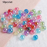 Rund Acrylperlen Lose Spacer Beads Mit Loch Herstellung von Schmuck For 50pcs