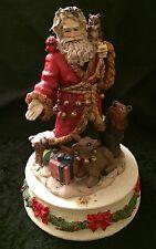 Ceramic Christmas Santa Music Box