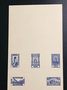 Syria syrie 1934 stamps color proof essay