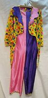 Adults Clown Costume, Fancy Dress outfit Circus Halloween Film TV Unisex