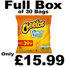 Full Box of 30 Cheetos Crunchy Cheese Snacks 30g Bags Free P&P Only £15.99