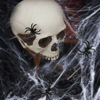 Halloween Cobwebs Spider Web + Spooky Spider Party Haunted House Decoration Prop