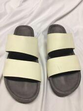 FEIT SLIDE  LEATHER  Sandals Size XXL White