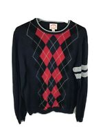 Brooks Brothers 1818 Argyle Crew Neck Cotton Sweater Men's Sz M Blue Red White