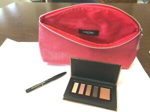 LANCÔME Color Design Eye Palette Blush Subtil 2.5g + Eye Liner black Ebony + Bag
