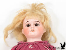 """Antique German Heubach Bisque Doll Kid Body 1900-3/0 Horseshoe Open Mouth 20"""""""