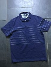 Paul Smith PS Blue with stripes Polo Shirt  - M -  p2p 20""