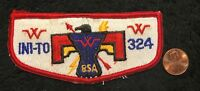 OA INI-TO LODGE 324 BSA FLINT RIVER COUNCIL GA PATCH THUNDERBIRD FLAP DELEGATE