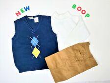 Toddler Kids Boys Clothes Size 4T NWOT Cool Beginning Blue Vest Suit