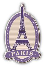 Eiffel Tower Paris France Vintage Label Car Bumper Sticker Decal 3'' x 5''
