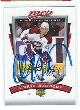 Chris Higgins Signed 2006/07 Upper Deck MVP Card #153