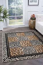 Casual Leopard Print Geometric 5x7 Area Rug Zebra Stripe Carpet: Actual 5'x7'