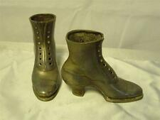 More details for antique silver plate victorian lace up boots