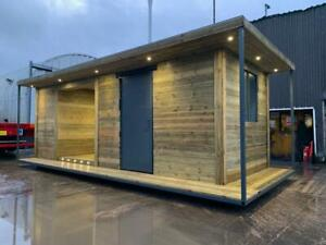 24ft x 10ft Cladded Bespoke Shipping Container Office/ Garden Workshop/ Hot Tub