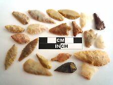 20 x néolithique pointes de flèches-Véritable saharienne Flint Artifacts - 4000BC (0577)