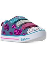 Skechers Little Girls' Twinkle Toes: Sparkle Lite - Flutter Fab Light-Up Sneaker