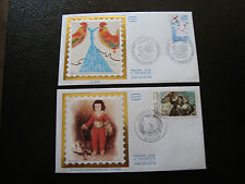 FRANCE - 2 enveloppes 1er jour 1981 (journee timbre/l eau) (cy38) french