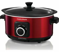 MORPHY RICHARDS Evoke Sear & Stew 460014 Slow Cooker - Red - Currys