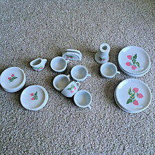 Frenzy Toys Porcelain STRAWBERRY Design Child's Mini Tea Set 22 Pieces