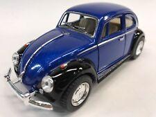 "New 5"" Kinsmart 1967 VW Volkswagen Beetle 2 Tone Diecast Model Toy 1:32 Blue"