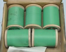 Lot of 5 Vintage 1oz Spools Gudebrod Nylon NCP Size A Thread Green #6779 950yds