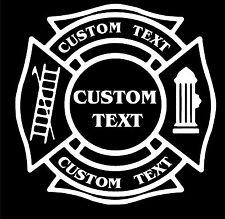"""Vinyl Decal-  Firefighter Fire Dept Department Maltese TRUCK window sticker 10"""""""