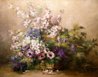 Wall art Still life flowers Giclee art Oil painting HD printed on canvas L3234