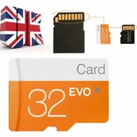 UK 32GB Micro SD Card Class 10 TF Flash Memory SDHC SDXC - 32G - With Adapter