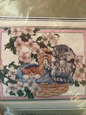 Candamar Needlepoint Kit Kittens In Basket 30609 Something Special Cats