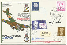 1st Long Distance International Air Race Anniversary Flown Signed Cover AY2147
