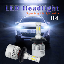 16000LM COB LED 9003/H4 Headlight Kit High/Low Beam Light Bulbs 6500K White US