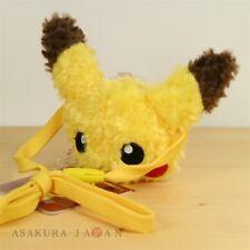 Pokemon Center Original Pikachu's Closet Plush Face Mini Pouch case