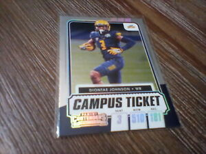 2020-21 Panini Contenders DRAFT PICKS CAMPUS TICKET DIONTAE JOHNSON Paralle
