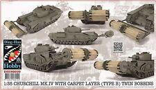 Ding-Hao hobby 1/35 Churchill Mk.IV tank With Carpet Layer Type B Twin Bobbins