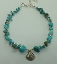 Turquoise Chip Beads Shell Charm Beach Anklet Ankle Bracelet