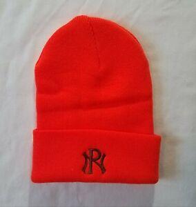 Portage Northern Huskies Winter Beanie Hat (Fluorescent Orange)