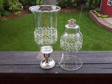 2 Homco 1198-Bl Park Lane Large Glass Peg Votive Cup Candle Holders w/Grommets