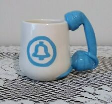Bell Telephone Blue White Ceramic Collectible Coffee Mug
