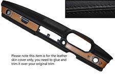 Negro Stitch Dash Dashboard Leather Skin Tapa se ajusta Mercedes W114 W115