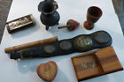 N°40 - LOT OBJETS COLLECTION SEAU BOUSSOLE POUR BROCANTE/ TABATIERE