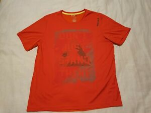 REEBOK Crossfit Men's Orange Shirt Size L RP $50.00 Don't Just Stand There