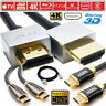 Premium Ultra HD HDMI Cable V2.0 High Speed 4K 2160p 3D Video Lead 50cm Gold TV