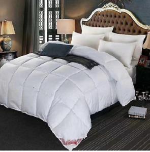 White Goose Down Feather Comforter Duvet Winter Quilt Blanket-4 Sizes