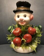 Vintage Blowmold Snowman - Florabelle Flowers Jersey City Nj Made In Hong Kong