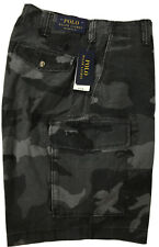 Polo Ralph Lauren Big and Tall Mens Black Camouflage Cargo Shorts Waist 44 B