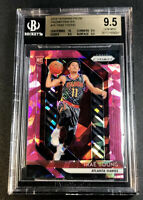 TRAE YOUNG 2018 PANINI PRIZM #78 PINK ICE REFRACTOR ROOKIE RC ALL BGS 9.5 10