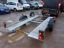 "brenderup car transporter trailer single axle tilt beb 10ft 2"" x 5ft 3"" bed"