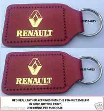 RENAULT KADJAR LAGUNA ESPACE GRAND SCENIC DUSTER MODUS RED LEATHER KEY FOB RING