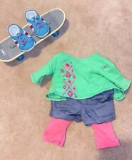New ListingAmerican Girl Skateboard Set With Board, Shoes, And Complete Outfit