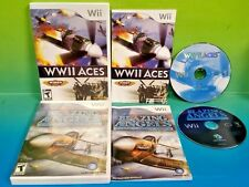 WWII Aces + Blazing Angels - Nintendo Wii Wii U 2 Plane Shooter Games Complete